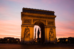 Arch de Triupmh, Paris Stock Images
