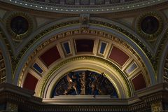 Arch decorated in the interior of the National Gallery in London royalty free stock image