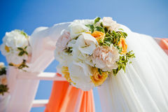 Arch decoration with flowers Stock Image