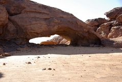 Arch in the desert, Libya Stock Images