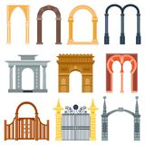 Arch design architecture construction frame classic, column structure gate door facade and gateway building ancient Royalty Free Stock Image