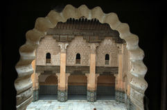 Ben Youssef medersa detail Royalty Free Stock Photo