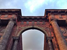 Arch. Detail of Arch in New Holland Island in Saint Petersburg, Russia Royalty Free Stock Photo