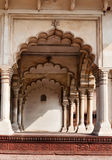 Arch of Diwan I Am, Hall of Public Audience in Red Agra Fort Royalty Free Stock Photos