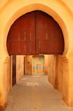 Arch door in Meknes medina Stock Image