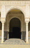 Arch and door in Seville palace Stock Photo
