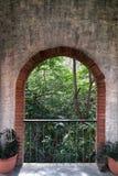 Arch door stone. Balcony and arch door Stock Image