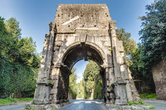Arch of Drusus in Rome, italy Royalty Free Stock Images