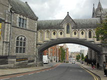 Arch in Dublin, Ireland. Historic archway in Dublin, Ireland Royalty Free Stock Images