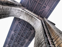 Arch of Ed Koch Queensboro Bridge,Under bridge Royalty Free Stock Photography