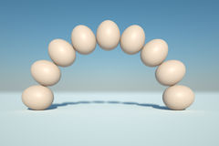 Arch of Eggs Stock Photography