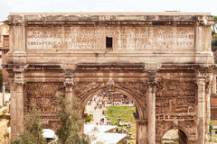 Arch of Emperor Septimius Severus in Rome Royalty Free Stock Photography