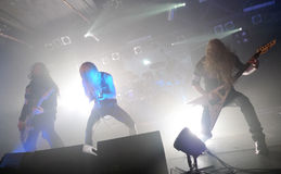 Arch Enemy on Barcelona Razzmatazz concert hall 2012. Photo taken on: October 27th, 2012 stock images