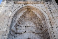 Arch entrance to the old mosque stock images