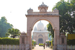 Arch an entrance to the temple in Old Delhi Royalty Free Stock Images