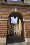 Deruta, perugia, umbria, italy, europe. Arch at the entrance of the town of deruta, province of perugia, umbria, italy Stock Photography