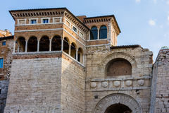 Arch of Etruscans Augustus Arch in Perugia. Umbria Royalty Free Stock Photo