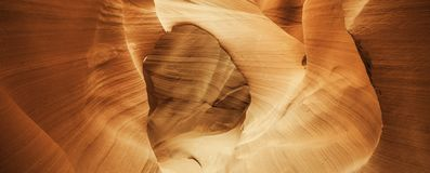 Arch in famous Antelope Canyon Stock Photography