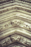 Arch with figures of Gothic style cathedral in Toledo Spain Stock Photo