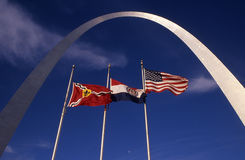 The Arch with Flags Stock Photos