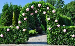 Arch with flowers Royalty Free Stock Image