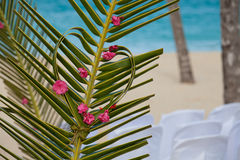 Arch with flowers on tropical sea Stock Photography