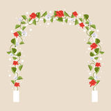 Arch with flowers. Vector Illustration Stock Image