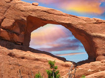 Arch Formation in Arches NP, USA Royalty Free Stock Photos