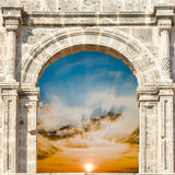 Arch in the fortress Stock Image