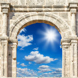 Arch in the fortress Royalty Free Stock Photography
