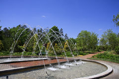 Arch Fountain at Daniel Stowe Stock Photography