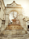 Arch fountain in Matera  - Italy Royalty Free Stock Photo