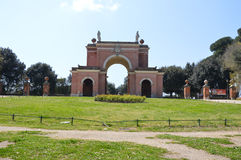 Arch of the Four Winds. Located in the grounds of Villa Doria Pamphili is a Arch that sits on the site of the Villa Corsini destroyed through the french Royalty Free Stock Photo