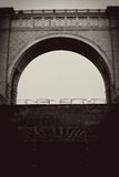 Arch frame decorated by rhomb ornament. Stock Image