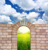 Arch From Bricks. Royalty Free Stock Images