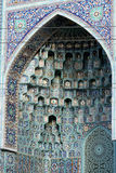 Arch of a front entrance of the Cathedral mosque Stock Photos