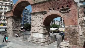 Arch of Galerius stock footage