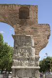 Arch of Galerius. The part of the Arch of Galerius in Thessaloniki stock images