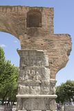 Arch of Galerius. The part of the Arch of Galerius in Thessaloniki royalty free stock photo