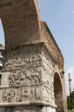 Arch of Galerius with reliefs of the imperial fami Stock Photos