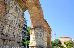 Arch of Galerius and Rotunda Stock Photo