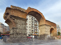 Arch of Galerius, Thessaloniki, Greece. The Arch of Galerius (or Kamara) is a 3rd century monument in the city of Thessaloniki, in the region of Central stock photography