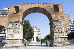 Arch of Galerius. Thessaloniki, Greece royalty free stock photos