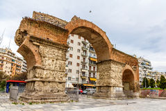 Arch of Galerius in Thessaloniki. Greece stock image