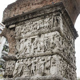 Arch of Galerius in Thessaloniki, Greece. Detail of the Arch of Galerius, known to the people of Thessaloniki as the Kamara, Byzantine Monument in Greece stock photo