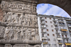 Arch of Galerius, Thessaloniki, Greece - detail. Arch of Galerius, stands on what is now Egnatia & Dimitrios Gounari Street. The arch was built in 298 to 299 AD royalty free stock photos
