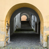 Arch Gallery And Passage. Royalty Free Stock Photo