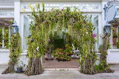Arch in garden Royalty Free Stock Image