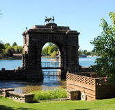 The Arch or Gate at Boldt Castle, Alexandra Bay NY USA Royalty Free Stock Images