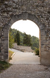 Arch gate in Gigondas Stock Images